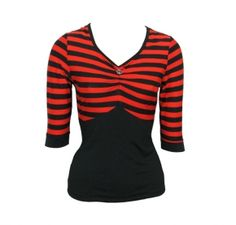 """Top """"June"""" red striped"""