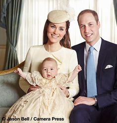.The Duke and Duchess of Cambridge have released four official photographs from Prince George's Christening.  The photographs were taken by Jason Bell in the Morning Room at Clarence House immediately following Prince George's baptism in the Chapel Royal, St. James's Palace | 23 October 2013.