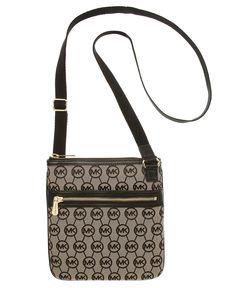 MICHAEL Michael Kors Handbag, Jet Set Monogram Crossbody - Michael Kors Handbags - Handbags & Accessories - Macy's