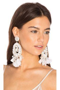 Ranjana Khan Pearl Drop Earring in White