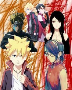 Boruto y Sarada Naruto Cool, Naruto Art, Naruto Family, Boruto Naruto Next Generations, Boruto And Sarada, Naruto Shippuden Anime, Diabolik Lovers Wallpaper, Cr7 Wallpapers, Boruto Next Generation