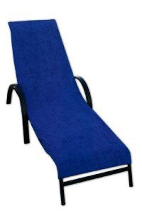 Terry Lounge Chair Cover Royal Blue Patio Chairs Garden Wall Seating