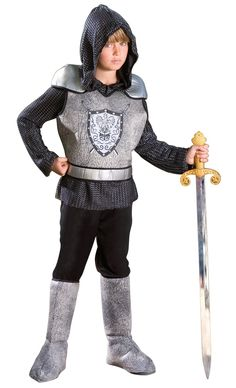 "$5.00 - Knight Child Costume, 70414 - easy ""bring a friend"" garb, or dress-up costume for home"