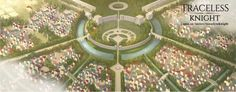 Environment Art; Digital Art; Fantasy Art; Battlefield; Ruined City; Magic City; War; Traceless Knight; Fantasy Map; Fantasy City