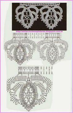 irish crochet motifs KUFER with artistic handicraft: Crochet motifs for covers, tablecloths, scarves, kilims Irish Crochet Tutorial, Crochet Edging Patterns, Crochet Lace Edging, Crochet Diagram, Freeform Crochet, Crochet Patterns Amigurumi, Crochet Designs, Crochet Flowers, Irish Crochet Charts