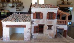 Comment réaliser une maison de crèche de Noël en placo-plâtre: les réalisations de Colette du Var