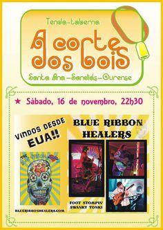 The Blue Ribbon Healers @ A Corte dos Bois - Sandiás (Ourense) música concerto concierto