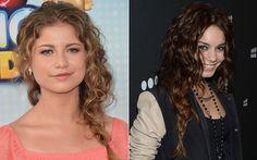 Quem tem cabelo ondulado ou cacheado, como Sofia Reyes e Vanessa Hudgens, consegue um efeito semelhante, mas com um pouco mais de volume natural. #orgulhocachos