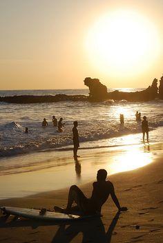 Have GOT to come back here in the future. Hostel Los Surfeadores... ~Sunset @ Playa El Tunco, El Salvador~