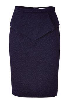 Peplum Structured Skirt by Matthew Williamson