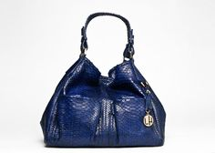 I absolutely love this color!  Loren Hatch purse!  DIANE TOTE BAG   STYLE #1004, ROYAL BLUE PYTHON SKIN
