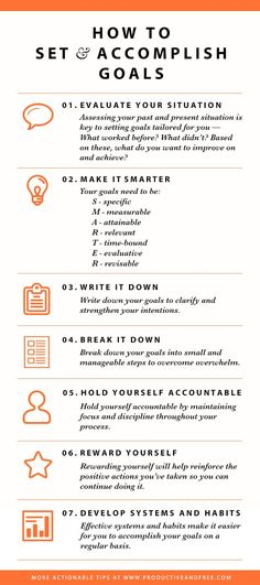 How to Set and accomplish goals (the smarter way) -- http://productiveandfree.com