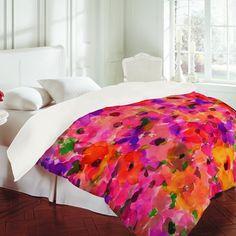 $189 Amy Sia Fleur Rouge Duvet Cover