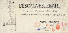 """Certificado con boceto de la Escalera Estelar en el hall del Hotel Estela Barcelona - Hotel del Arte de Sitges. En el documento se puede leer: """"Comenzada en 1992 y acabada el miércoles 11 de agosto de 1999, día del eclipse de sol""""     English: Certificate with a sketch of the """"Stellar Stairs2 at the hall of Hotel Estela Barcelona - The Art Hotel from Sitges. The document says: """"Started in 1992 and finished on wednesday 11th august 1999, day of the solar eclipse"""" Lorenzo Quinn, Sitges, Solar, Barcelona, Bullet Journal, Certificate, Sculptures, Art, Solar Eclipse"""
