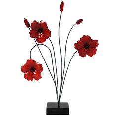 Ruby Poppy Sculpture | Dunelm