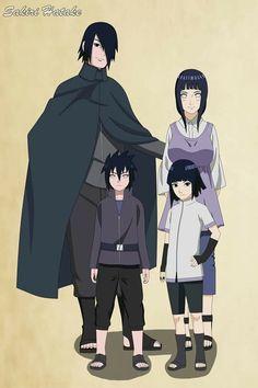 SasuHina Family ♥♥♥ Sasuke, Hinata and their kids ♥ #Couple #Love #Cute #ShipCrack