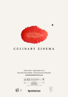 The 8 official posters of the 63st edition of the San Sebastian International Film Festival: 2015: Culinary Zinema Section