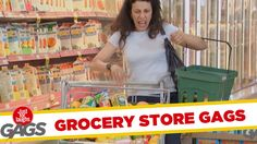 Grocery Store Pranks - Best of Just For Laughs Gags ⋆ Many Funny Videos Funny Gags, Funny Tweets, Funny Memes, Hilarious, Jokes, Prank Videos, Funny Videos, Autistic Memes, Just For Laughs Gags