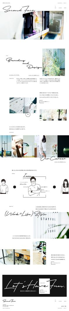 UNIEL ltd. RECRUIT SITE Second Face Web Design, Graphic Design, Two Faces, Web Inspiration, Creative Studio, Photograph, Layout, Website, Simple