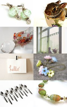 SPRING has spring ... in JET LAND by Pam Robinson from cooljewelrydesign --Pinned with TreasuryPin.com