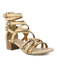 Another great find on #zulily! Camel Crisscross Buckle Stanley Sandal by Mark & Maddux #zulilyfinds