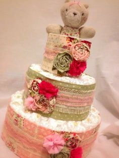 Custom Diaper Cakes Garden Shabby Chic on Etsy, $65.00