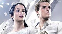 """Katniss Everdeen and Peeta Mallark in """"Catching Fire""""."""