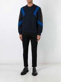Neil Barrett colour block panelled sweatshirt