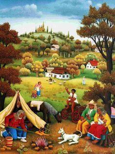 Croatia ~ Ivan Generalic ~ Gypsy Festival