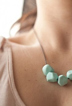 DIY Joli collier très simple et chic en Fimo