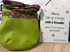 Sac  Be-Bop simili autruche vert de Nathalie - Patron Sacôtin