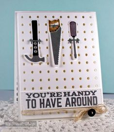 Let's Tool Around, Horizontal Stitched Strips Die-namics, Let's Tool Around Die-namics, Pegboard Cover Up Die-namics, Tool Time Die-namics - Cindy Lawrence #mftstamps