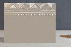 Indio Foil-Pressed Personalized Stationery by Amber Barkley at minted.com