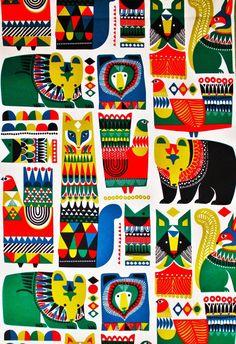 Marimekko, Kukkuluuruu cotton fabric by Sanna Annukka 2014, 145x50cm by finnishideas on Etsy https://www.etsy.com/listing/235887094/marimekko-kukkuluuruu-cotton-fabric-by
