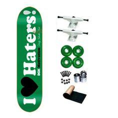 DGK Motivation I Love Haters Green 8.0 Skateboard Complete by DGK. $71.99. 4 - Yellow Jacket Blank Wheels 53mm. 1 set - Skateboard Hardware & 1 - Black Randel Grip Tape. Brand New DGK Skateboard Deck 8.0 x 32. 8 - Abec 3 Bearings. 2 - Frontage Trucks. Brand New, Top Quality DGK Skateboard Complete