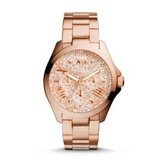This is gorgeous...may be my next watch.....Fossil Cecile Multifunction Stainless Steel Watch - Rose