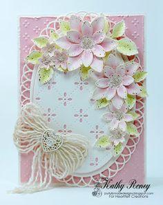 Joyfully Made Designs by Kathy Roney using Heartfelt Creations Sun Kissed Fleur flowers