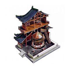 """中国经典建筑""""解剖图""""。 作者:李乾朗"""
