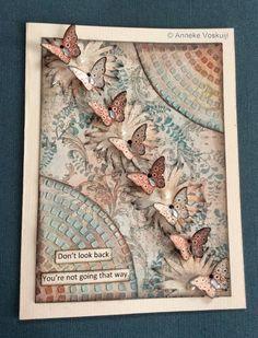 Don't look back Papillon Potpourri card