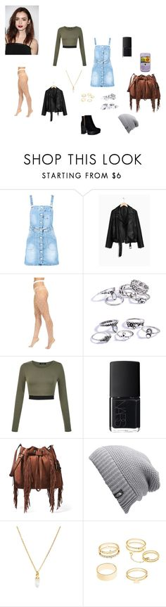 """""""First Day of School"""" by evangalina on Polyvore featuring Boohoo, Wolford, NARS Cosmetics, Diane Von Furstenberg, The North Face, South Moon Under and Charlotte Russe"""