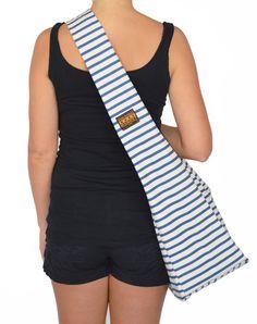 Navy Classic Thin Stripe Tote