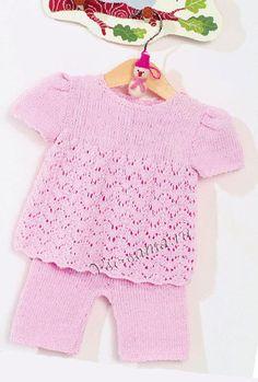 Туника и штанишки розового цвета, фото