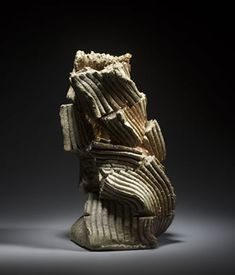 SHOZO MICHIKAWA (b. Natural-ash, torn and twisted pot, anagama fired stoneware, 28 x 16 cm Japanese Ceramics, Japanese Pottery, Ceramic Sculptures, Sculpture Art, Hand Built Pottery, Contemporary Ceramics, Ikebana, Product Design, Stoneware