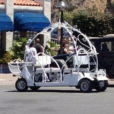 Cinderella golf cart...only in Avalon!