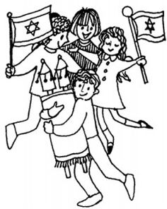Festividad De Sim Chat Torah Coloring Pages