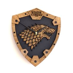 House Stark Game Of Thrones inspired wall clock