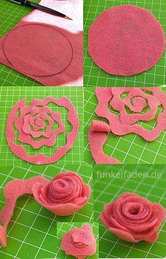 Anleitung Rosen aus Filz basteln