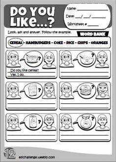 Likes & dislikes - worksheet 12 English Teaching Resources, English Worksheets For Kids, English Language Learning, Language Lessons, English Primary School, Kids English, Learn English, Ingles Kids, Grammar For Kids