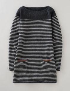striped tunic.