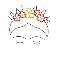 Frida Kahlo Machine Embroidery Designs – Applique Embroidery Design 52 - Flowery Tutorial and Ideas Sewing Machine Embroidery, Paper Embroidery, Machine Applique, Vintage Embroidery, Local Embroidery, Embroidery Online, Pearl Embroidery, Chinese Embroidery, Brazilian Embroidery